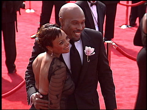 uchenna and joyce agu at the 2005 emmy awards entrance at the shrine auditorium in los angeles california on september 18 2005 - 2005 stock videos and b-roll footage