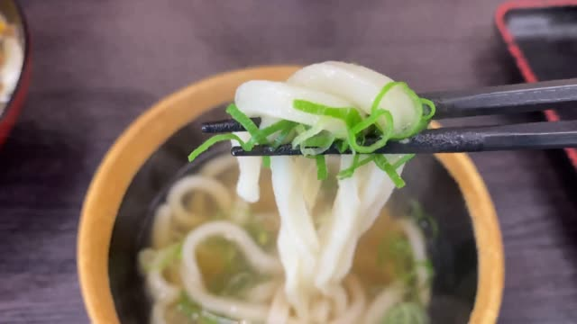 vídeos de stock e filmes b-roll de udon in japan - pauzinhos