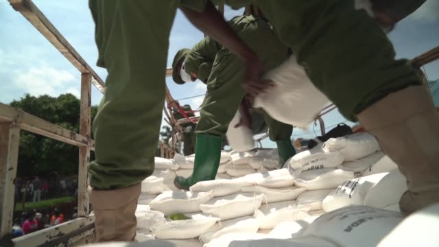 uganda authorities begin distributing food aid to up to 1.5 million vulnerable citizens affected by the coronavirus lockdown in the capital kampala - kampala stock videos & royalty-free footage