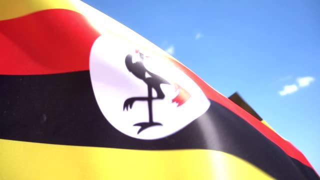 uganda flag - kampala stock videos & royalty-free footage