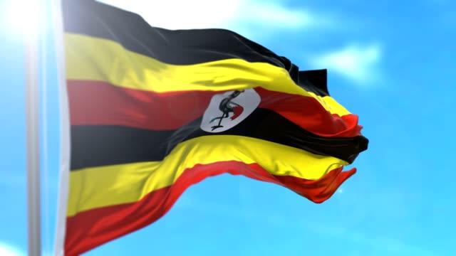 ウガンダフラグ - ウガンダ点の映像素材/bロール