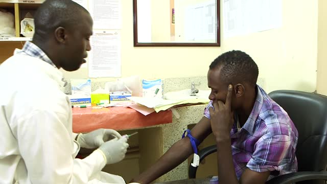 uganda has the third highest global burden of malaria cases in the world and the seventh highest level of deaths. footage shows the treatment of... - kampala stock-videos und b-roll-filmmaterial