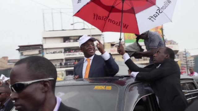 uganda opposition challenger and former prime minister amama mbabazi addresses a rally of his supporters in kampala - kampala stock videos & royalty-free footage