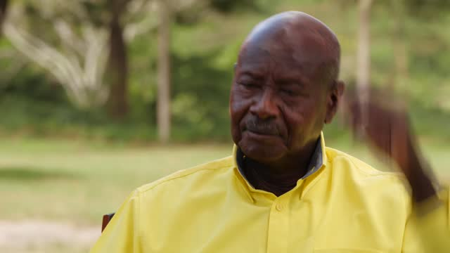ugandan general election: yoweri museveni interview; uganda: kizozi ranch: ext yoweri museveni interview sot part 7 of 11. - youth and education -... - homophobia stock videos & royalty-free footage