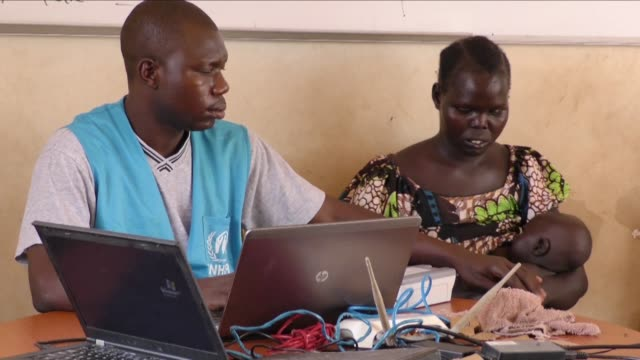 ugandan refugee centers at the border with south sudan are getting ready for an influx of new arrivals with thousands of people on the south sudan... - kampala stock videos & royalty-free footage