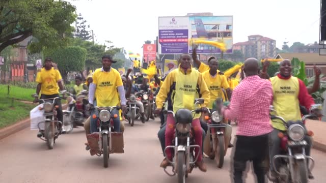 ugandans in kampala react following the re-election of president yoweri museveni for a sixth presidential term, with some saying that peace is the... - kampala stock videos & royalty-free footage
