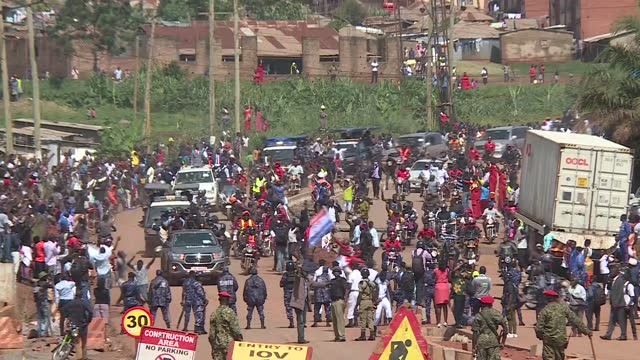 uganda's music star turned politician robert kyagulanyi also known as bobi wine was nominated to contest for the presidential elections in uganda. he... - kampala stock videos & royalty-free footage
