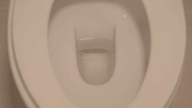 uhd/4k apple prores (hq) : toilet bowl. - toilet stock videos and b-roll footage