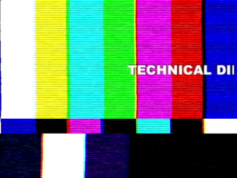 uh-oh, technical difficulties! - cable tv stock videos and b-roll footage