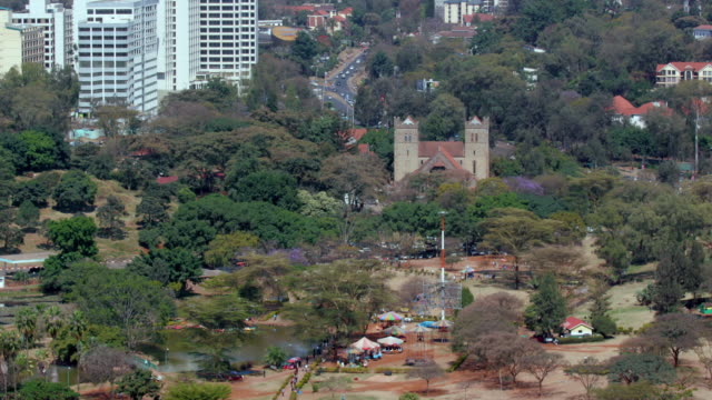 uhuru park & all saints cathedral nairobi  kenya  africa - nairobi stock videos and b-roll footage