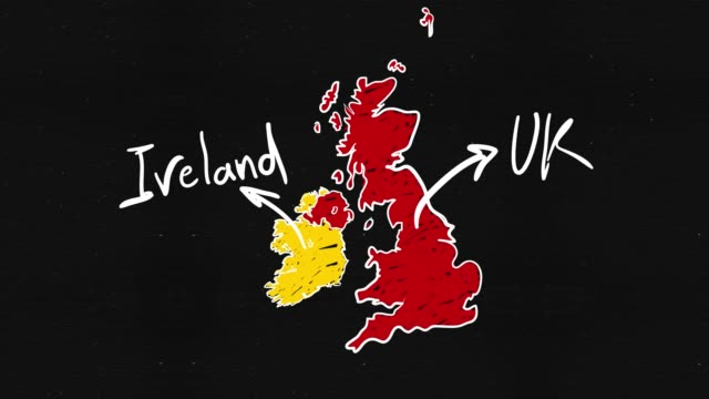 uk and ireland map - brexit stock videos & royalty-free footage