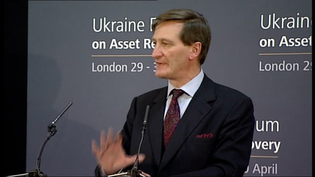 excerpts from press conf / interview with attorney general dominic grieve england london lancaster house int extract from ukraine forum press... - dominic grieve stock videos and b-roll footage