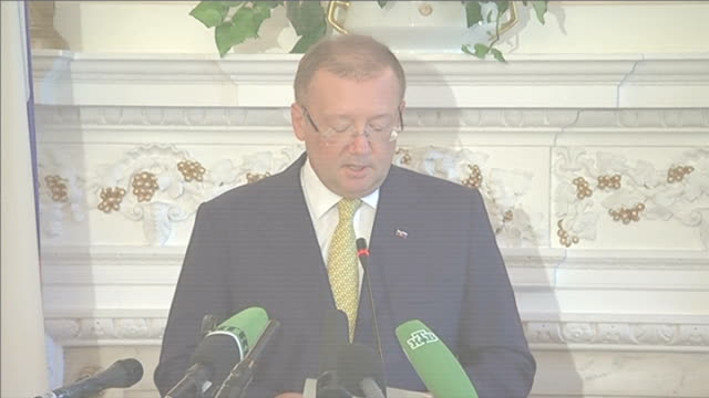 EU to add 33 individuals and companies to Russia sanctions list ENGLAND London INT Alexander Yakovenko press conference SOT We believe they are...