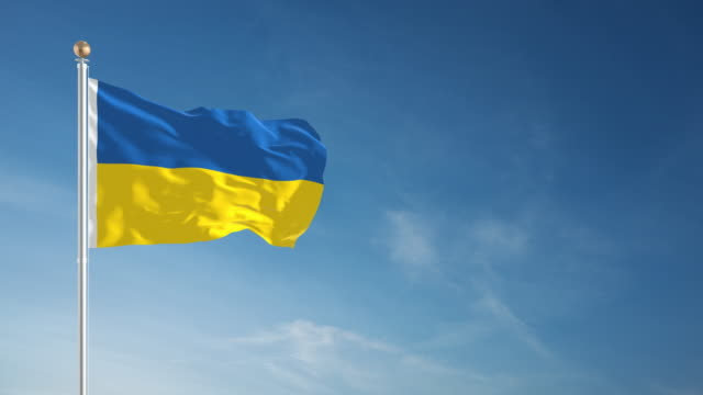 4K Ukraine Flag - Loopable
