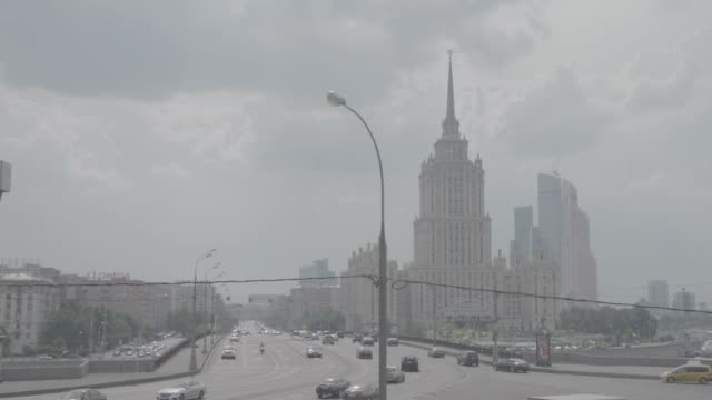 ukraine hotel in moscow - moscow russia stock videos & royalty-free footage