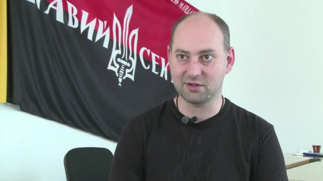 ukraines controversial right sector group is taking part in sundays elections to prove it is a legitimate party and should not be demonized as... - thursday stock videos & royalty-free footage