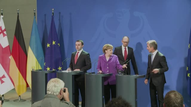 Ukraines prime minister said on Wednesday that Europe would never again have a Berlin Wall and that his country wanted to become European ahead of...