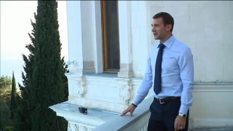 vídeos de stock e filmes b-roll de ukraine's recently-retired football star andriy shevchenko strongly defended his controversial new political career, denying he is making money and... - making money