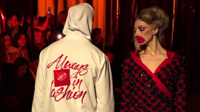 ukrainian fashion designer aleksey zalevskiy presents unique creations made from condoms at kiev fashion week to raise awareness about aids - condom stock videos and b-roll footage