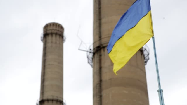 ukrainian flag - ukraine stock videos & royalty-free footage
