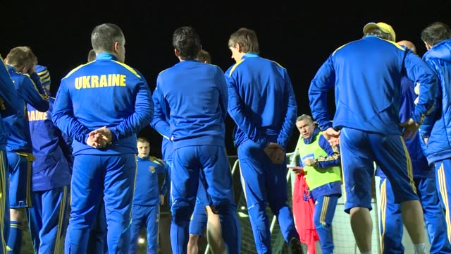 ukrainian football players took part in a training session in the cypriot resort town of ayia napa on tuesday on the eve of their international... - international match stock videos & royalty-free footage