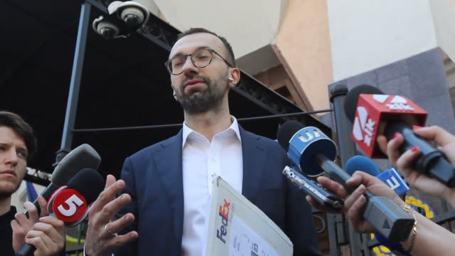 ukrainian lawmaker serhiy leshchenko shows to journalists the originals of documents as he said which was returned from usa by the fbi after ending... - 2010 2019 stock videos & royalty-free footage
