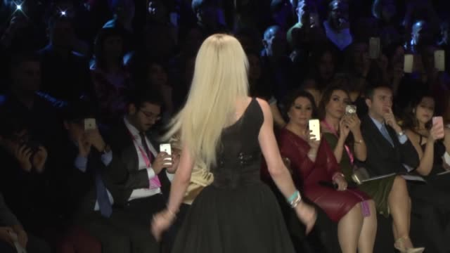 """ukrainian model valeria lukyanova, known as """"human barbie"""", walks the runway during the dosso dossi fashion show in antalya, turkey on december 17,... - fashion show stock videos & royalty-free footage"""