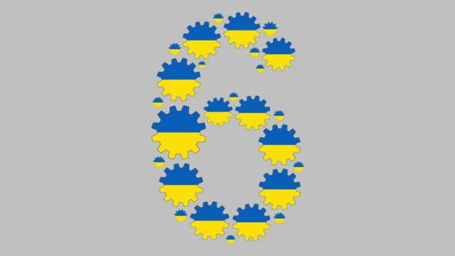 vidéos et rushes de numéro ukrainien six - chiffre 6