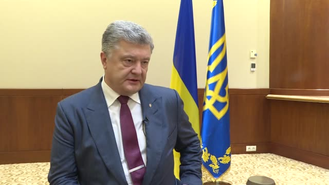ukrainian president petro poroshenko speaks in an exclusive interview after attending the opening ceremony of the ukrainian consulate in turkey's... - mediterranean turkey stock videos and b-roll footage