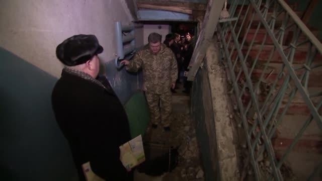 ukrainian president petro poroshenko visits counter terrorism center in the eastern ukrainian city of kramatorsk located at the northern portion of... - counter terrorism stock videos & royalty-free footage