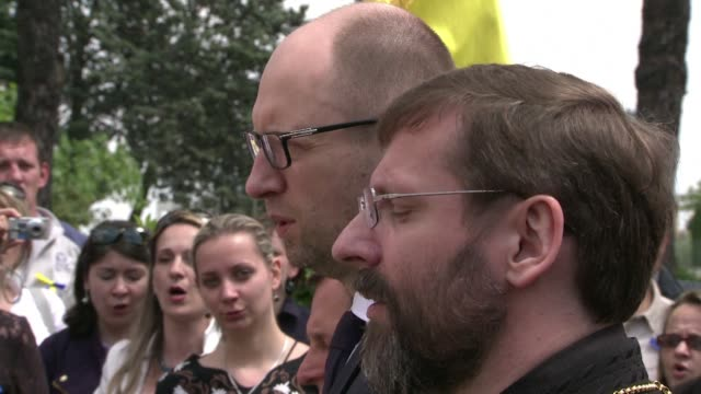 Ukrainian Prime Minister Arseniy Yatsenyuk on Saturday accused Russia of trying to spark a conflict by violating Ukrainian airspace and supporting...