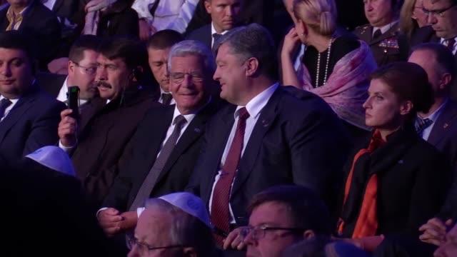 Ukrainian Prime Minister Volodymyr GroismanHungarian President Janos AderGerman President Joachim GauckUkranian President Petro Poroshenko and his...