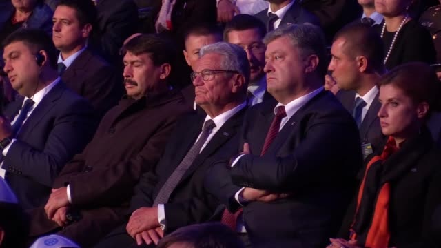 ukrainian prime minister volodymyr groisman,hungarian president janos ader,german president joachim gauck,ukranian president petro poroshenko and his... - traditionally hungarian stock videos & royalty-free footage