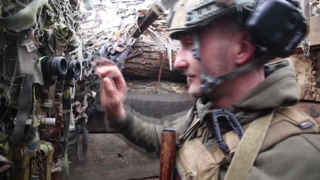 ukrainian soldiers on the frontline in eastern ukraine describe hearing an increased movement of separatist, pro-russian military vehicles and... - ukraine stock videos & royalty-free footage