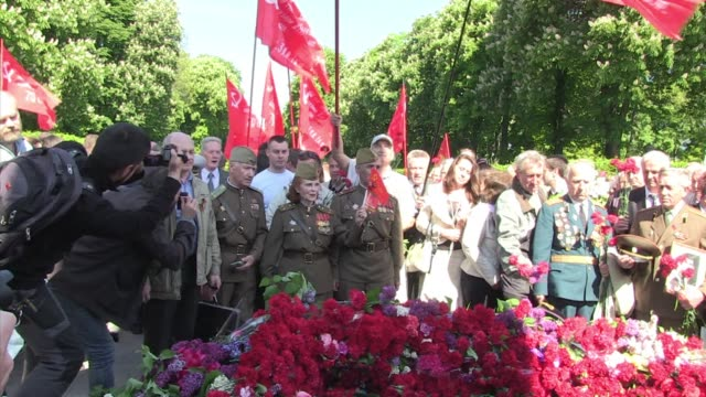ukrainian wwii veterans in kiev on friday celebrated the soviet victory over nazi germany but the event was overshadowed by the ongoing crisis in the... - third reich stock videos and b-roll footage