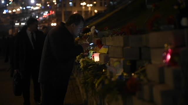 Ukrainians honor the memory of those killed in the 2014 Ukrainian Revolution