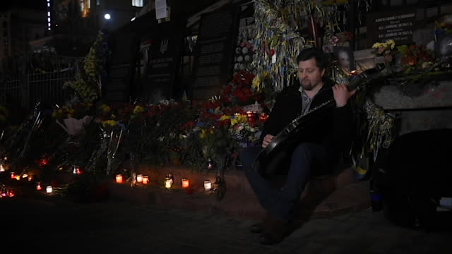 Ukrainians honor the memory of those killed in the 2014 Ukrainian Revolution