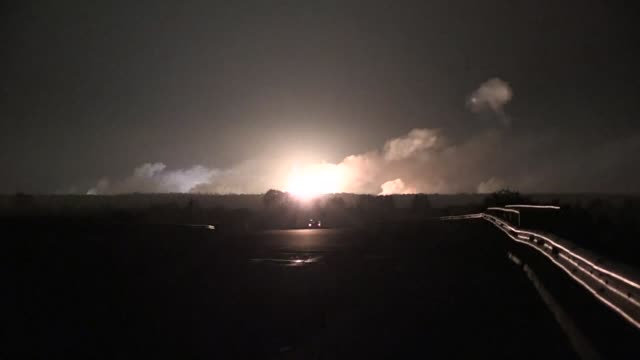 Ukranian authorities evacuated more than 30000 people from the central Vinnytsya region after a huge munitions depot caught fire and set off...
