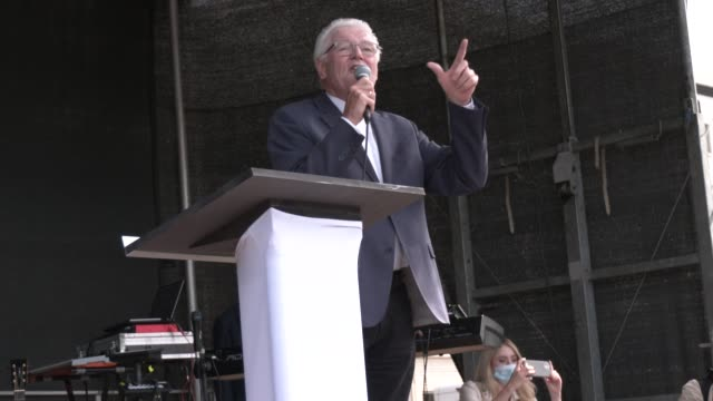 "ulrich parzany, pastor and former secretary-general of the german section of the ymca, attends the annual ""march for life"" anti-abortion march on... - pastor stock videos & royalty-free footage"