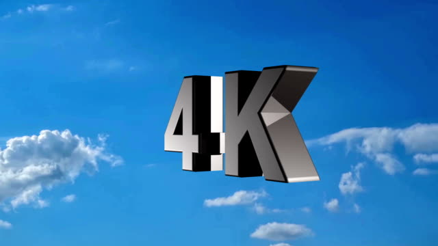 4k ultra high definition television technology logo icon - ultra high definition television stock videos & royalty-free footage