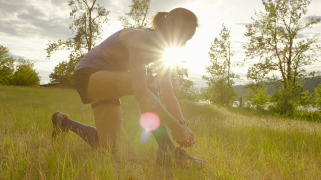 ultra marathon runner running outdoors in nature - pectoral muscle stock videos and b-roll footage