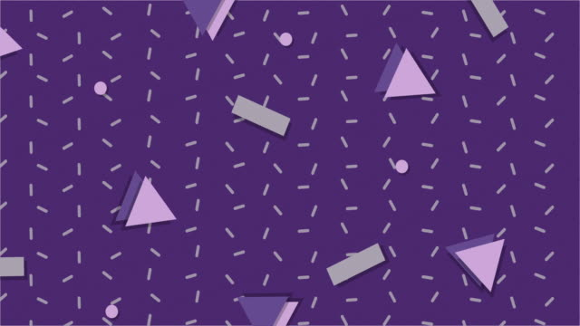 ultra violet 1990s style animated background - shape stock videos & royalty-free footage