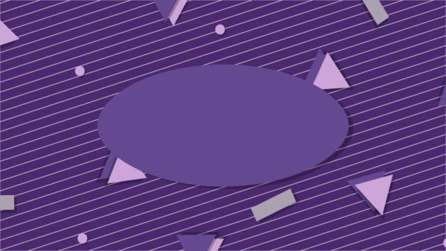 vídeos y material grabado en eventos de stock de ultra violeta estilo de la década de 1990 fondo de animación - geometría
