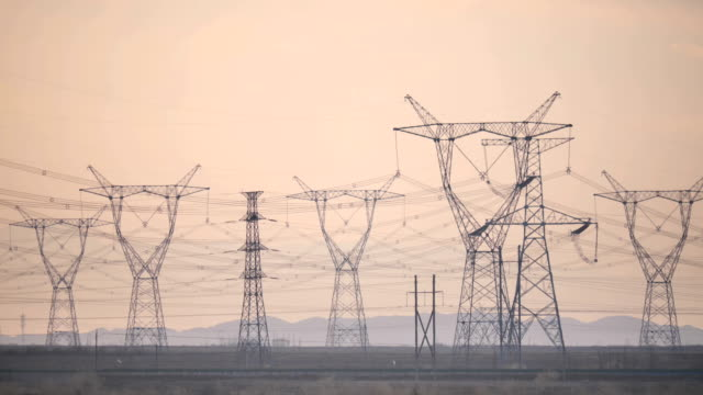 ultra-high voltage transmission tower in china - electricity pylon stock videos and b-roll footage