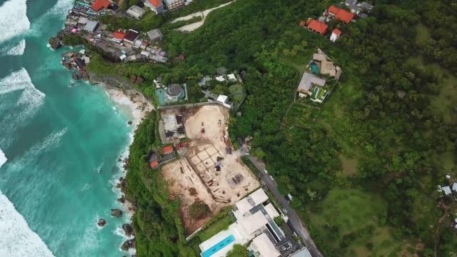 uluwatu, bali aerial - bali stock videos & royalty-free footage