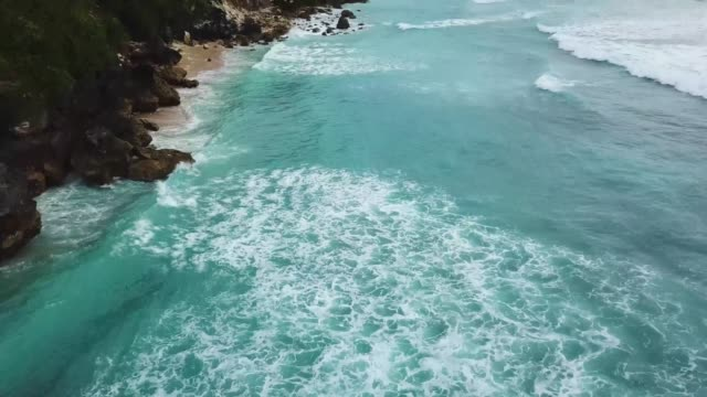 Uluwatu, Bali Beach and Crashing Waves