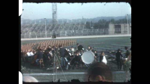 vídeos y material grabado en eventos de stock de ulysses s grant high school graduation in the san fernando valley as seen in a home movie reel - ulysses s grant