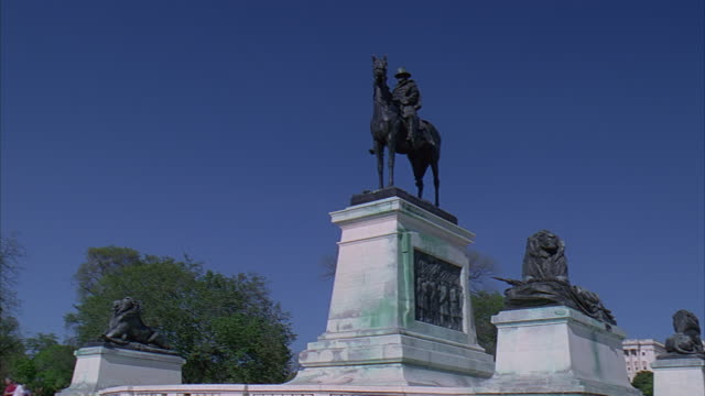 la ws pan ulysses s. grant memorial and capitol building / washington dc, usa - unknown gender stock videos & royalty-free footage