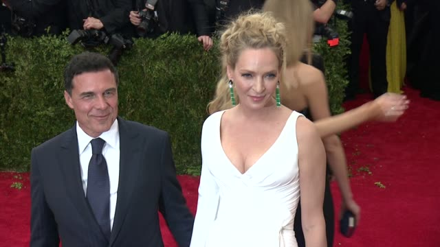 Uma Thurman and Andre Balazs at China Through The Looking Glass Costume Institute Benefit Gala Arrivals at Metropolitan Museum of Art on May 04 2015...