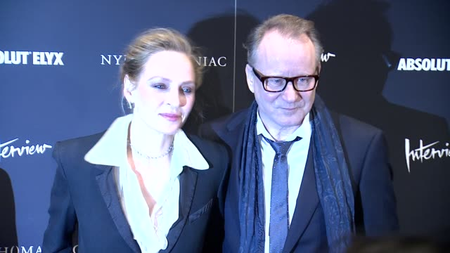 Uma Thurman and Stellan Skarsgard at Nymphomaniac Volume I New York Screening Arrivals at MOMA on March 13 2014 in New York City